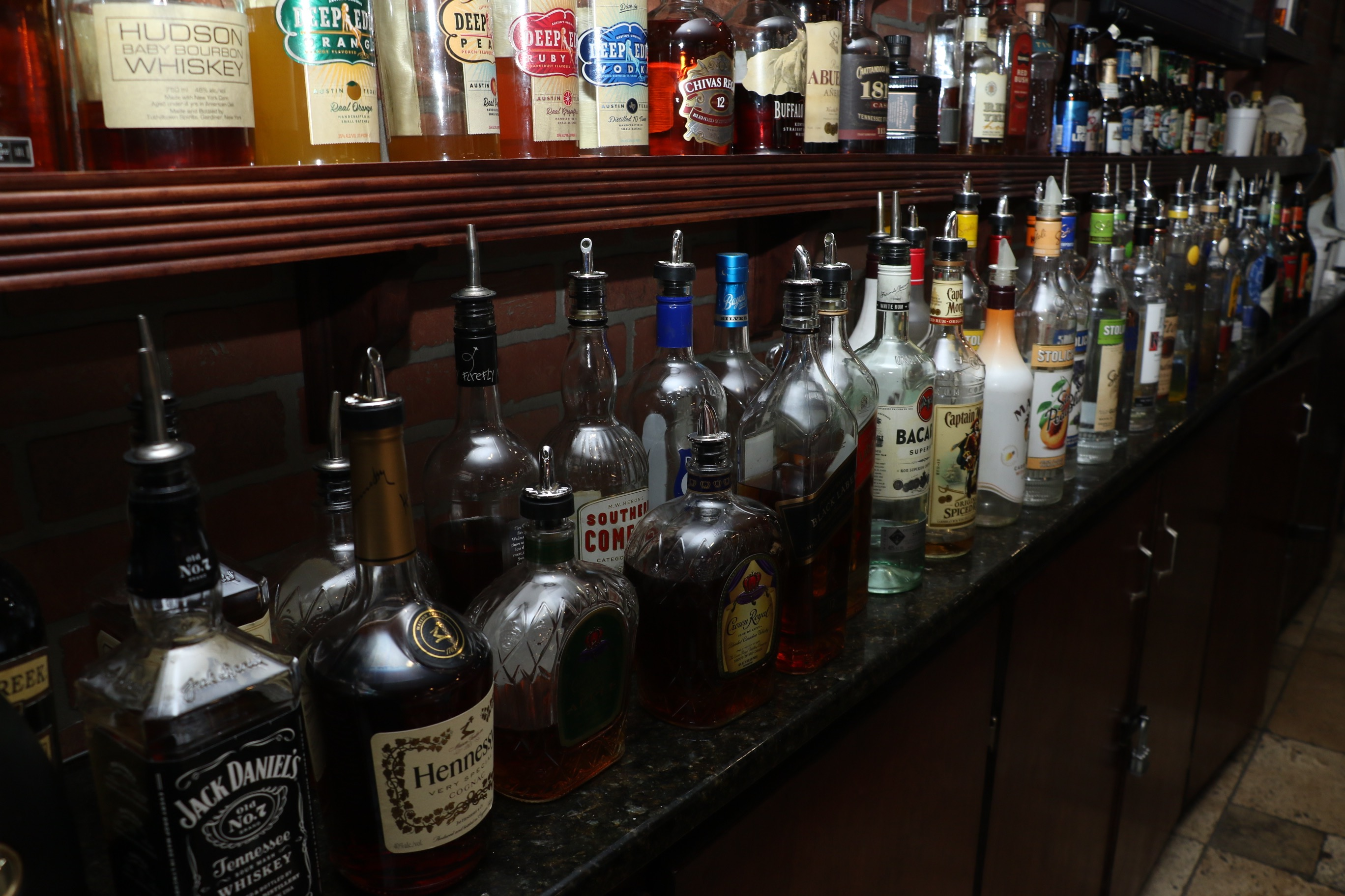 A bar filled with drinks
